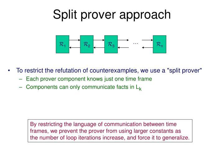 Split prover approach