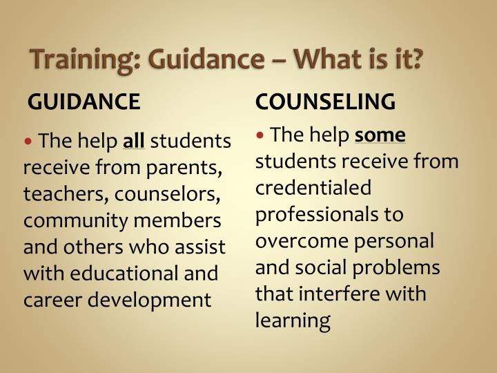 Training: Guidance – What is it?
