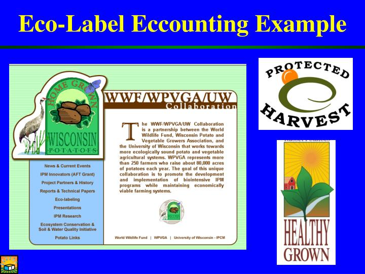 Eco-Label Eccounting Example