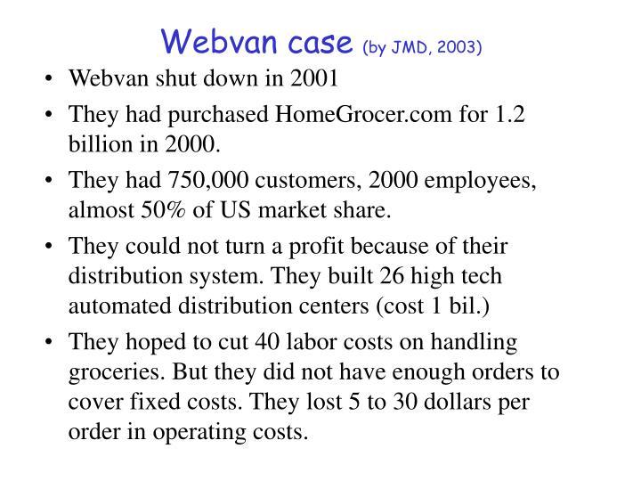 Webvan case
