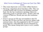 what future challenges will tesco com face by jmd 2003