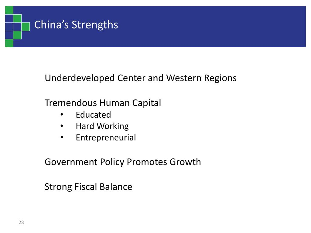 China's Strengths