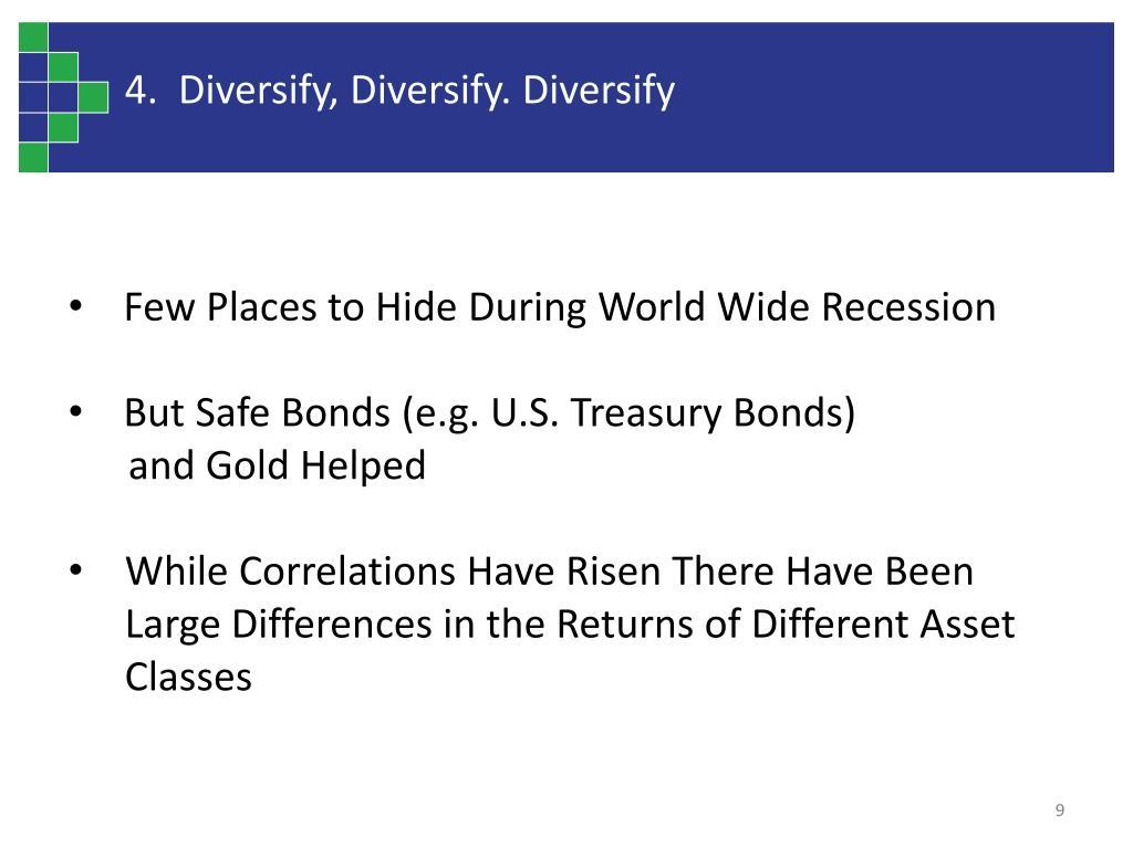 4.  Diversify, Diversify. Diversify
