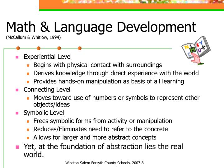 Math & Language Development