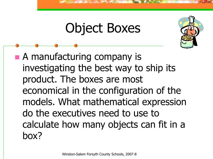 Object Boxes