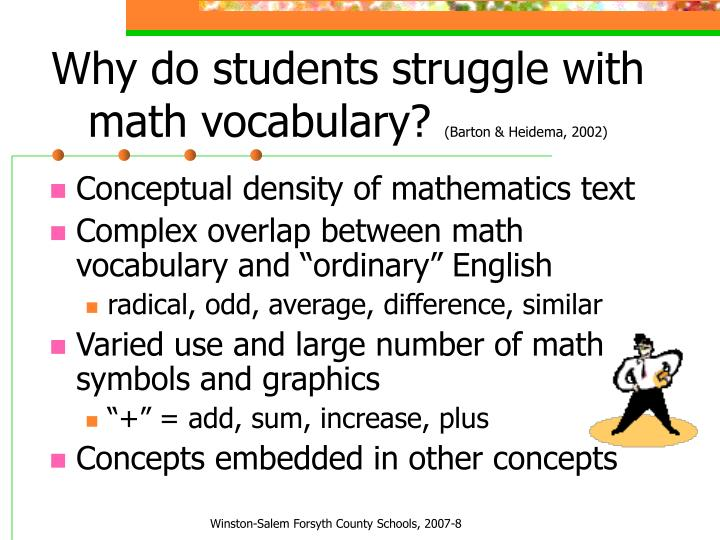 Why do students struggle with math vocabulary?
