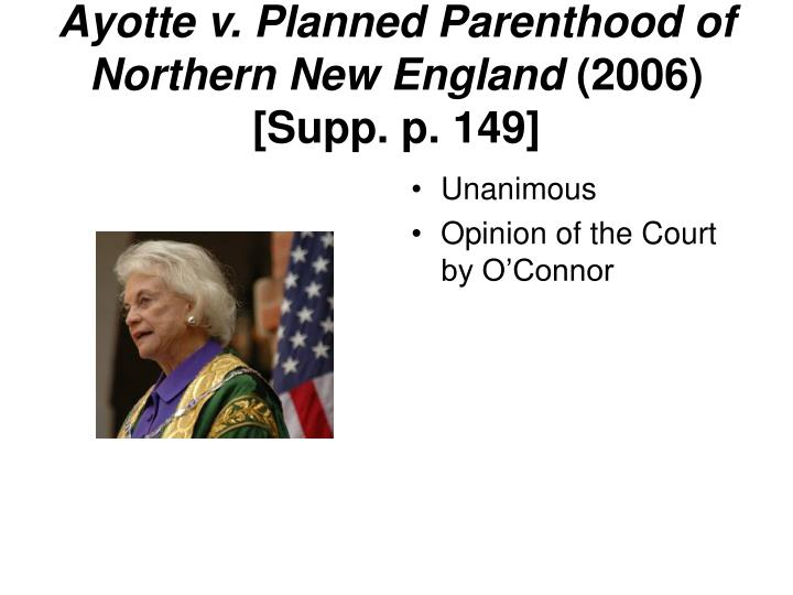 Ayotte v. Planned Parenthood of Northern New England