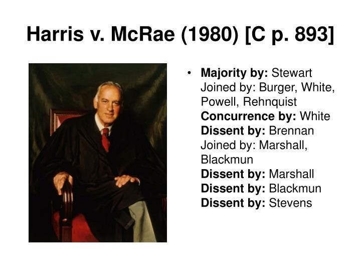 Harris v. McRae (1980) [C p. 893]