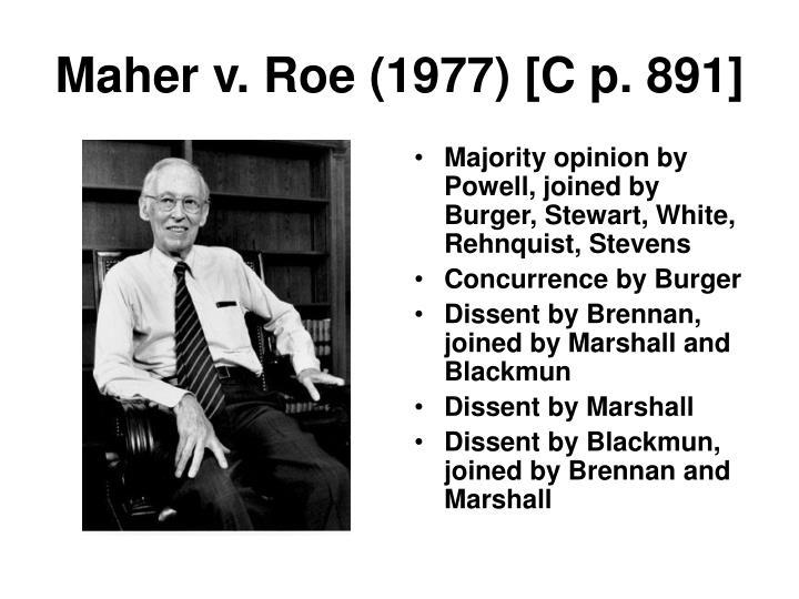 Maher v. Roe (1977) [C p. 891]