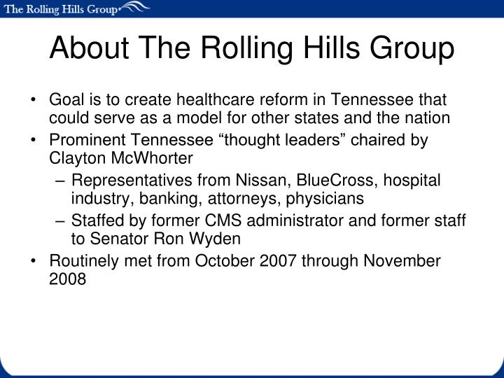 About The Rolling Hills Group