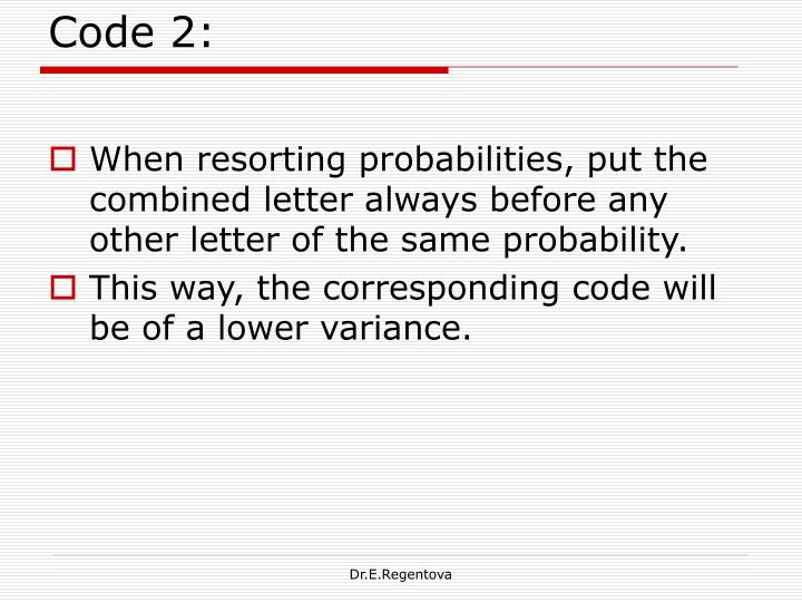Code 2: