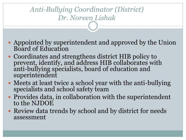 Anti-Bullying Coordinator (District)