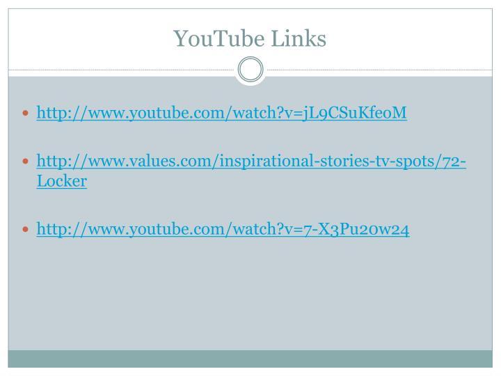 YouTube Links