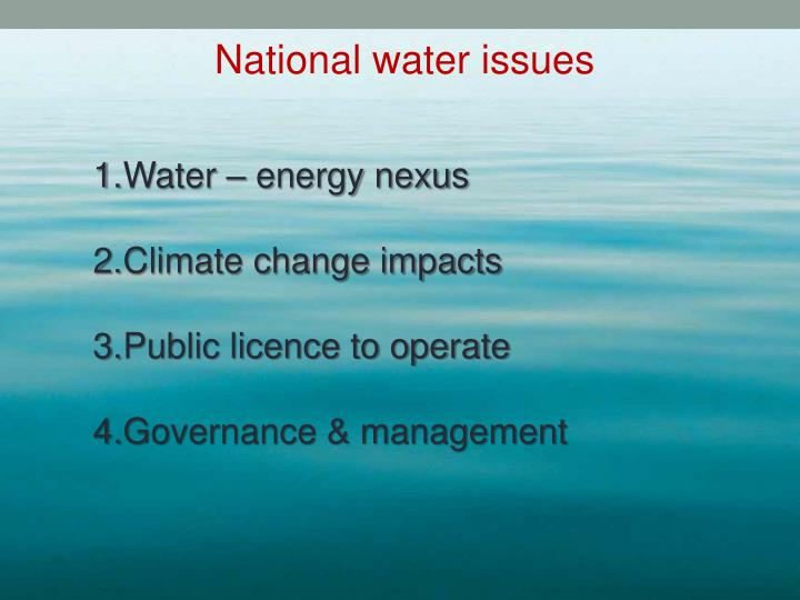 National water issues
