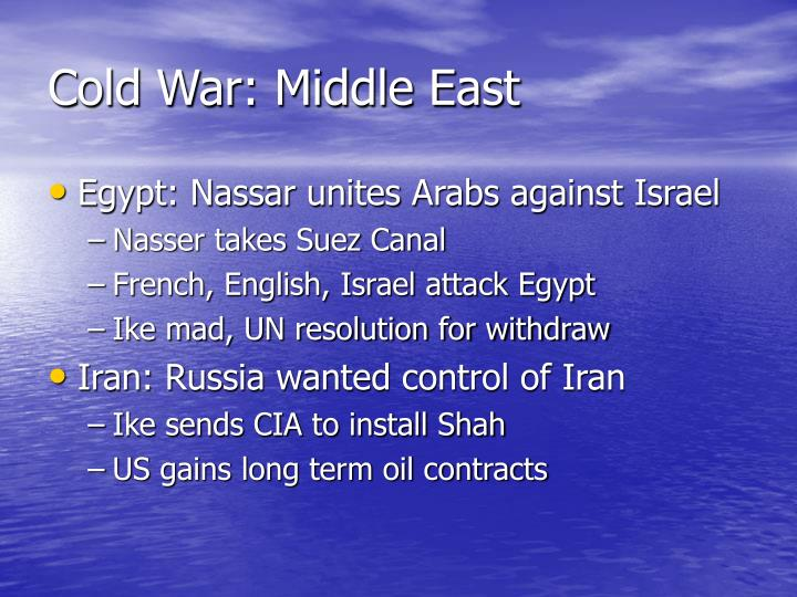 Cold War: Middle East