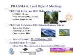 pragma 4 5 and beyond meetings