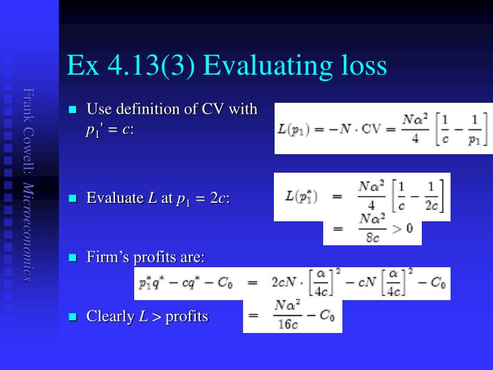 Ex 4.13(3) Evaluating loss
