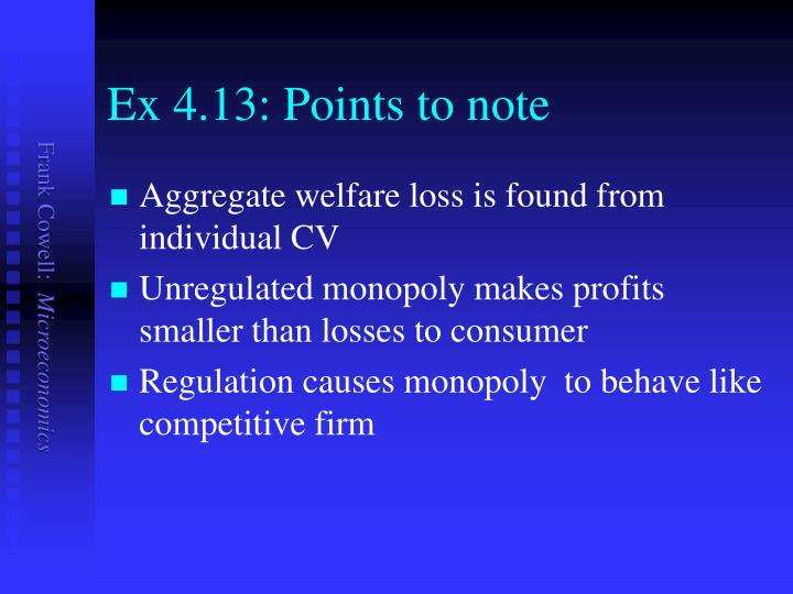 Ex 4.13: Points to note