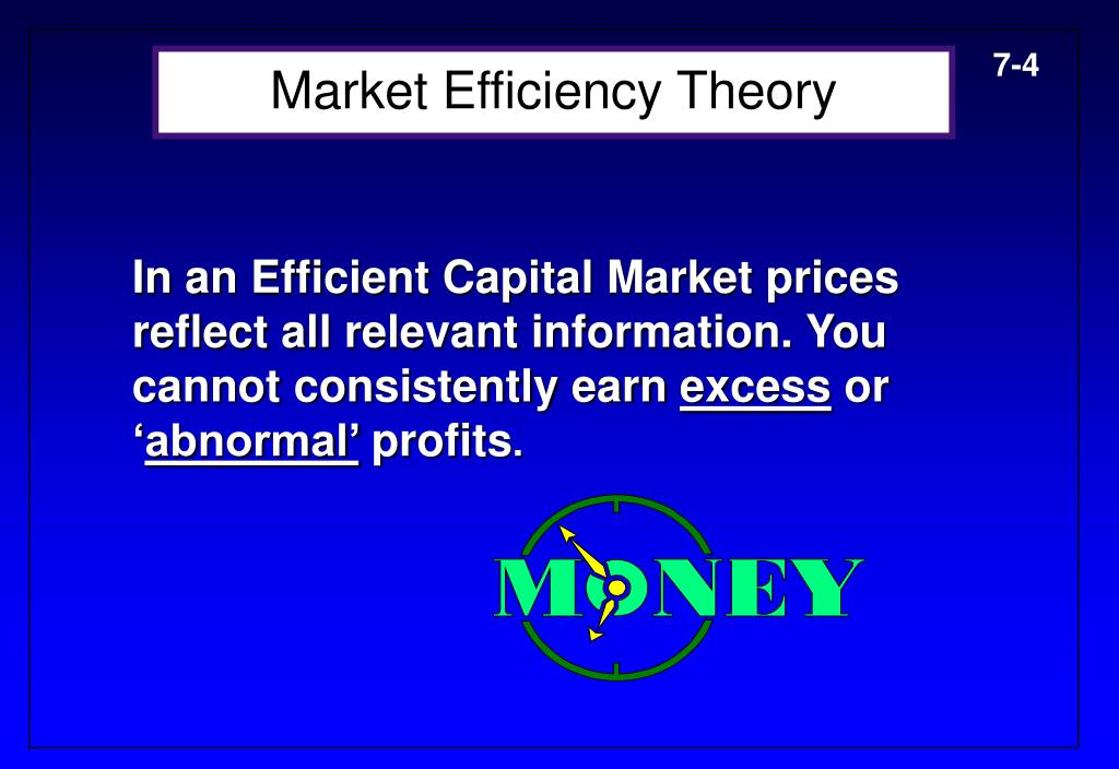 Market Efficiency Theory