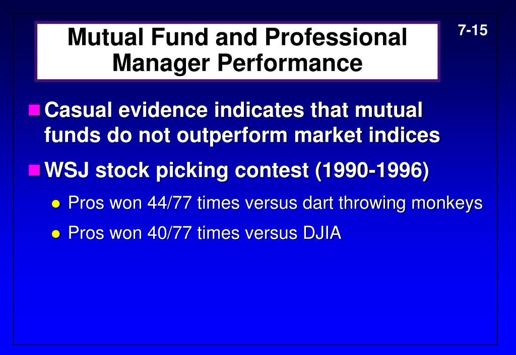 Mutual Fund and Professional Manager Performance