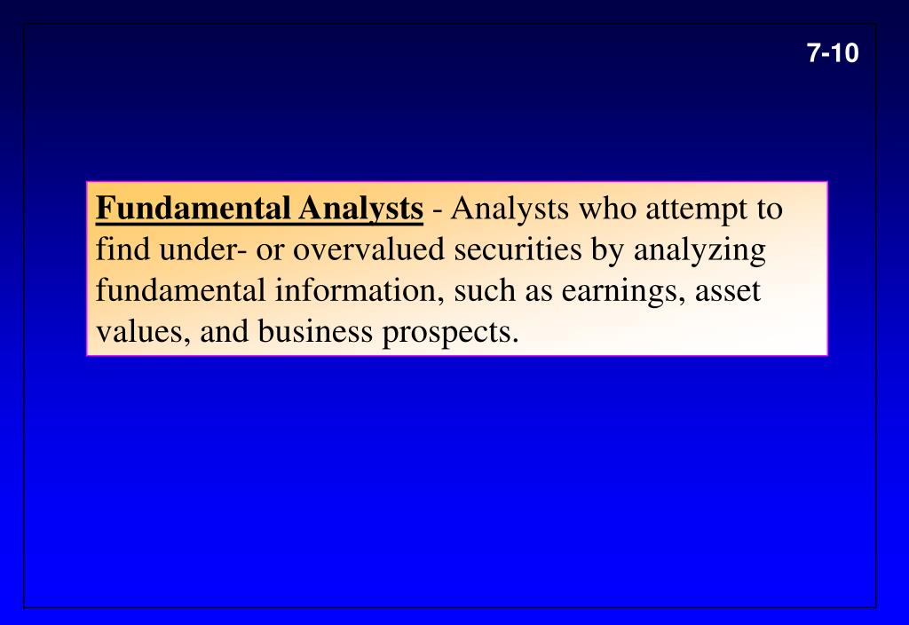 Fundamental Analysts
