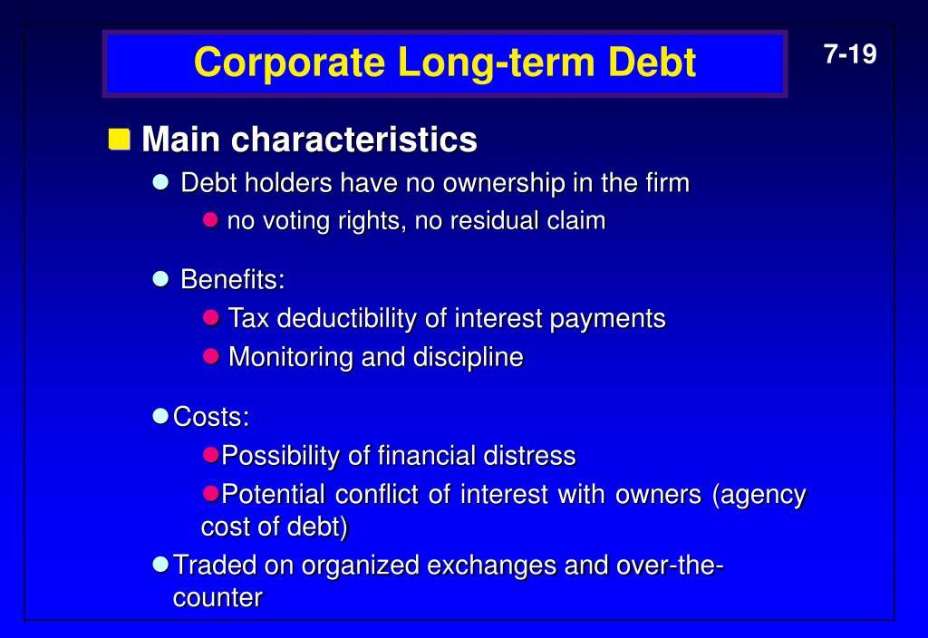 Corporate Long-term Debt