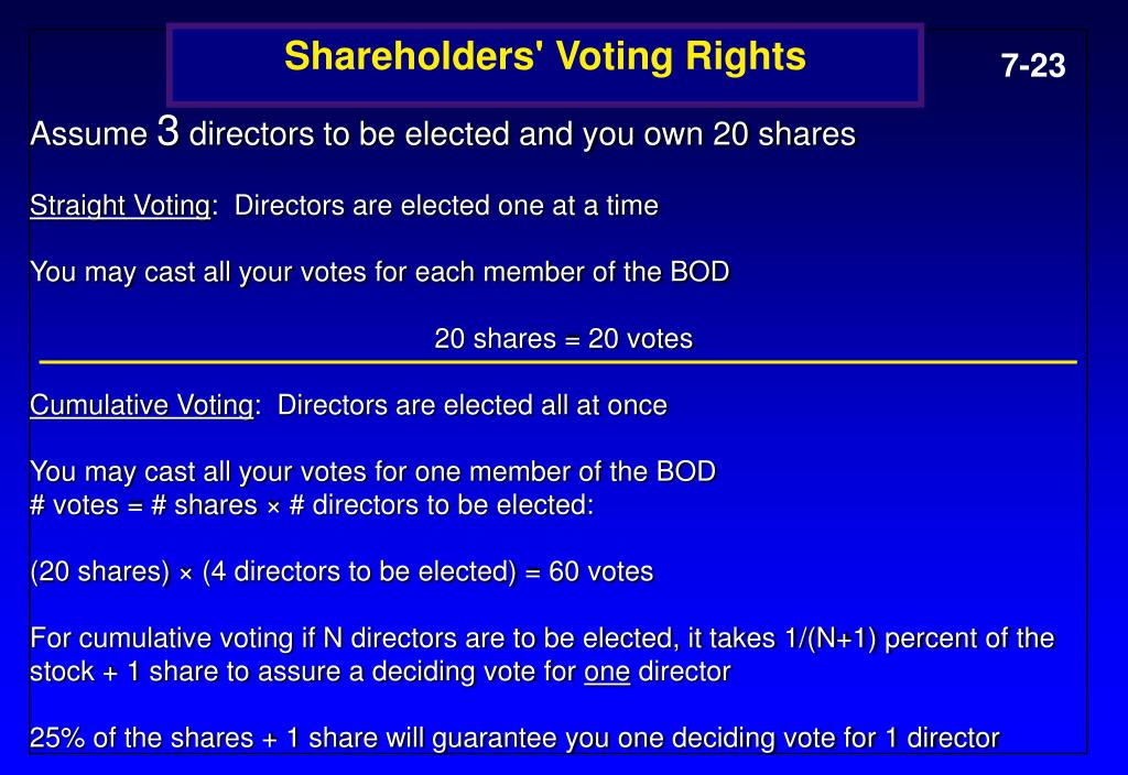 Shareholders' Voting Rights