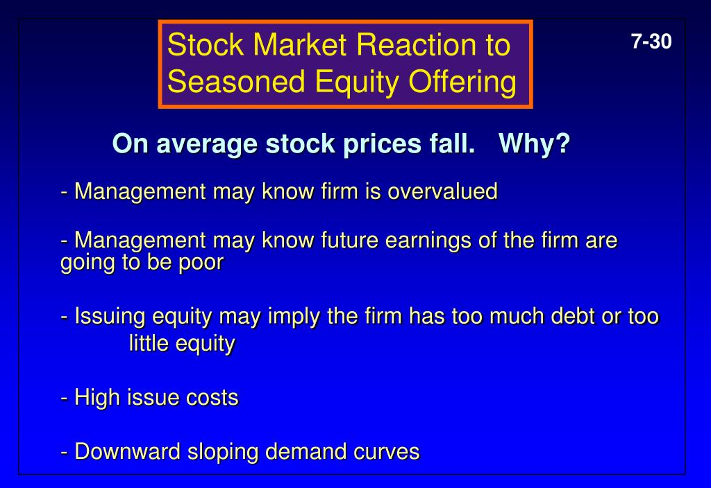 Stock Market Reaction to