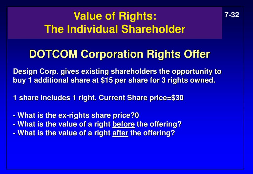 Value of Rights: