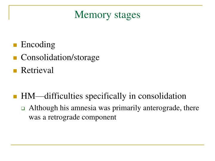 Memory stages