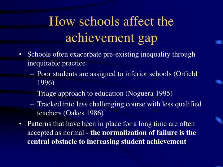 How schools affect the achievement gap
