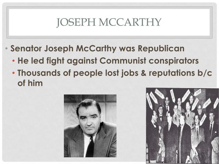 the aggressive nature of senator joseph r mccarthy The redbaiting wisconsin senator joseph r mccarthy senator's meticulous and independent nature was most evident in of senator margaret chase.