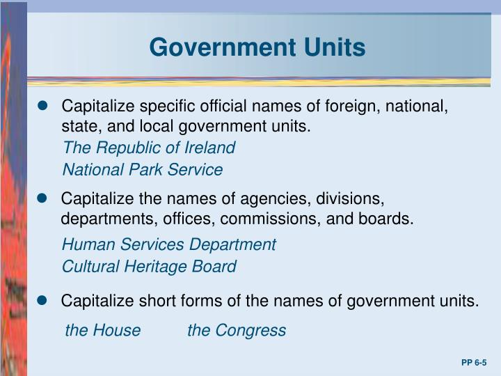 Government Units