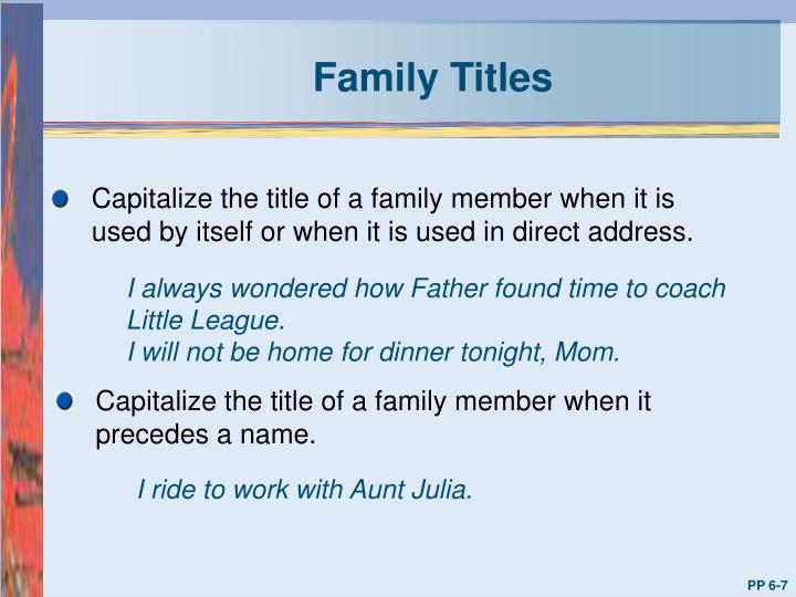 Family Titles