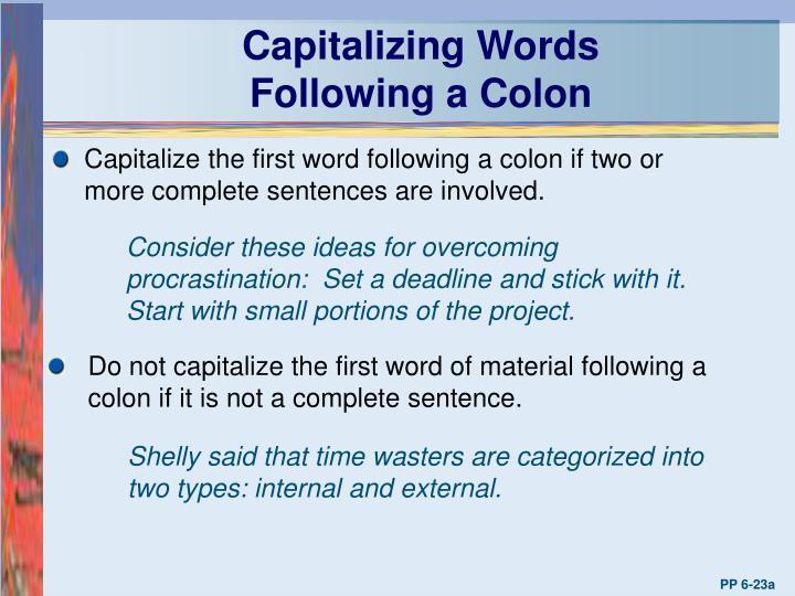 Capitalizing Words