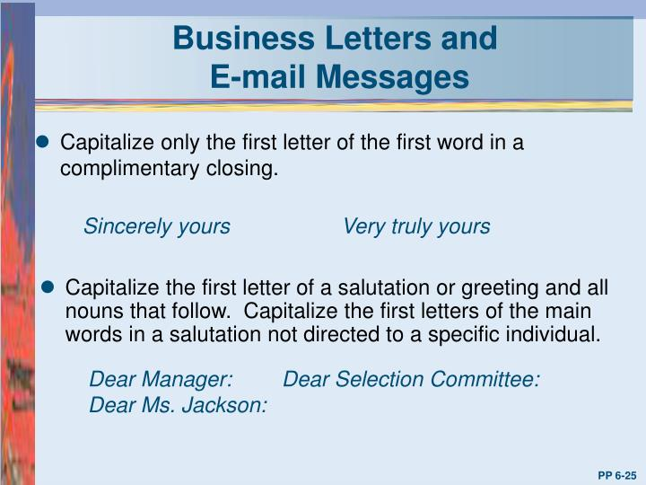 Business Letters and