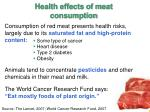 health effects of meat consumption