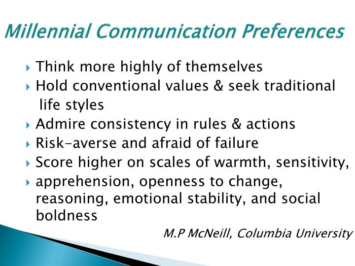 Millennial Communication Preferences
