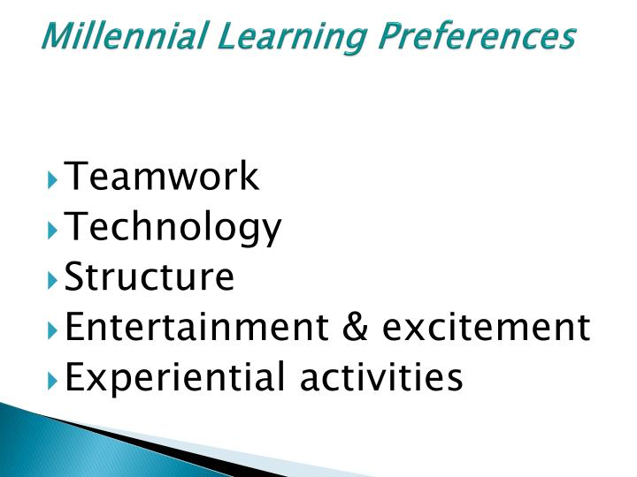 Millennial Learning Preferences