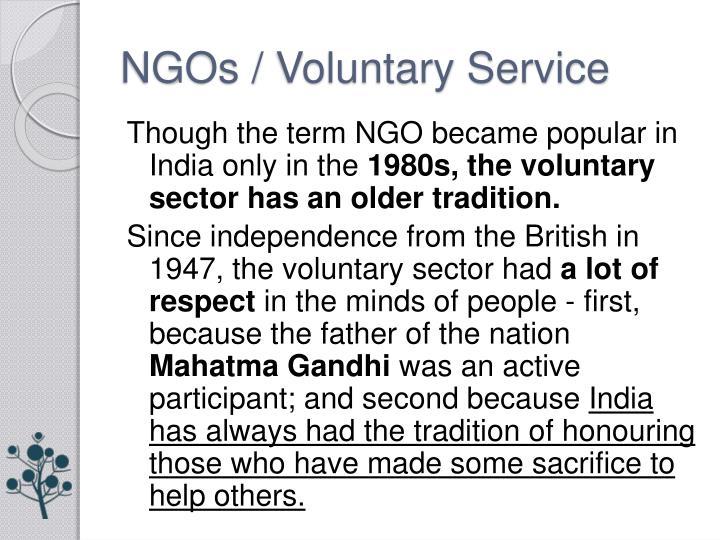 NGOs / Voluntary Service