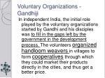 voluntary organizations gandhiji