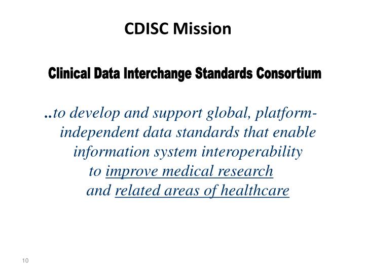CDISC Mission