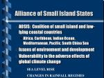 alliance of small island states1