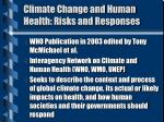 climate change and human health risks and responses
