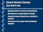 global climate change sea level rise