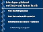 inter agency network on climate and human health