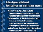 inter agency network workshops in small island states