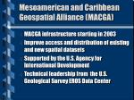 mesoamerican and caribbean geospatial alliance macga