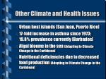 other climate and health issues