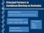 principal partners in caribbean meeting on barbados
